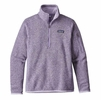 Patagonia Womens Better Sweater 1/4 Zip Fleece Petoskey Purple