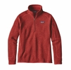 Patagonia Womens Better Sweater 1/4 Zip Fleece Ramble Red
