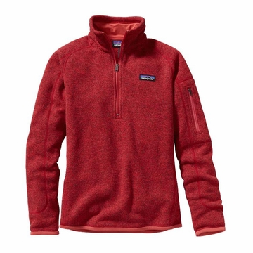 Patagonia Womens Better Sweater 1/4 Zip Fleece Sumac Red