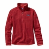 Patagonia Womens Better Sweater 1/4 Zip Fleece Sumac Red Large