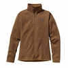 Patagonia Womens Better Sweater Fleece 1/4 Zip Bear Brown