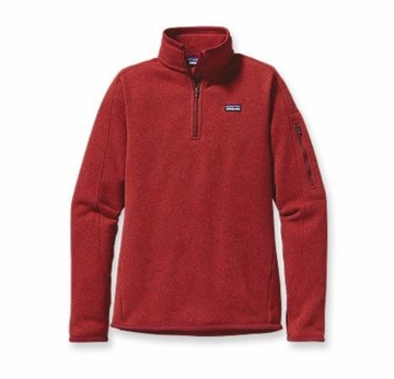 Patagonia Womens Better Sweater Fleece 1/4 Zip Cochineal Red