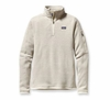 Patagonia Womens Better Sweater Fleece 1/4 Zip Raw Linen