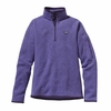 Patagonia Womens Better Sweater Fleece 1/4 Zip Violetti