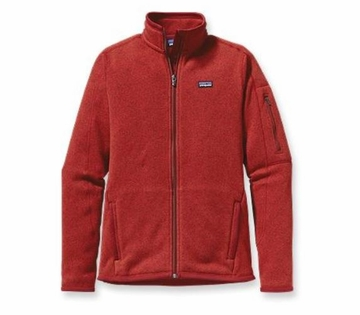 Patagonia Womens Better Sweater Fleece Jacket Cochineal Red