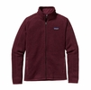Patagonia Womens Better Sweater Fleece Jacket Oxblood Red Medium
