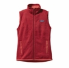 Patagonia Womens Better Sweater Fleece Vest Sumac Red