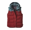 Patagonia Womens Bivy Down Hooded Vest Drumfire Red XL