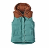 Patagonia Womens Bivy Down Hooded Vest Mogul Blue XS