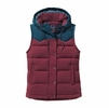 Patagonia Womens Bivy Hooded Vest Oxblood Red