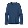 Patagonia Womens Capilene 1 Silkweight Crew Glass Blue (Spring 2014)