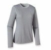 Patagonia Womens Capilene 3 Midweight Crew Nickel: Tailored Grey X-Dye