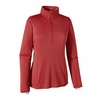 Patagonia Womens Capilene Midweight Zip-Neck Classic Red/ Sumac Red
