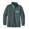 Patagonia Womens Cotton Quilt Snap-T Pullover Nouveau Green