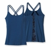 Patagonia Womens Cross Back Tank Shibori Panel: Glass Blue  XL