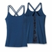Patagonia Womens Cross Back Tank Shibori Panel: Glass Blue (Spring 2014)