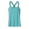 Patagonia Womens Cross Back Tank Teensy Stripe: Tobago Blue (Spring 2014)