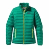 Patagonia Womens Down Sweater Jacket Emerald