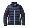 Patagonia Womens Down Sweater Jacket Navy Blue