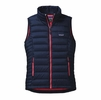 Patagonia Womens Down Sweater Vest Navy Blue w/ Shock Pink