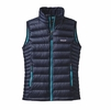 Patagonia Womens Down Sweater Vest Navy w/ Epic Blue XS