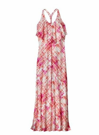 Patagonia Womens Folly Beach Dress Ink Waves Dress: Coral    (Past Season)