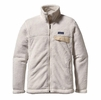Patagonia Womens Full-Zip Re-Tool Fleece Jacket Raw Linen w/ White X-Dye