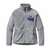 Patagonia Womens Full-Zip Re-Tool Fleece Jacket Tailored Grey: Nickel X-Dye w/ Concord Purple