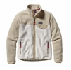 Patagonia Womens Full-Zip Snap-T Fleece Jacket Birch White w/ Bleached Stone