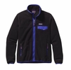 Patagonia Womens Full-Zip Snap-T Fleece Jacket Black