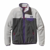 Patagonia Womens Full-Zip Snap-T Fleece Jacket Nickel w/ Concord Purple