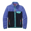 Patagonia Womens Full-Zip Snap-T Fleece Jacket Violet Blue