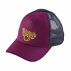 Patagonia Womens Groovy Type Layback Trucker Hat Violet Red