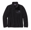 Patagonia Womens Lightweight Synchilla Snap-T Fleece Pullover Black w/ Forge Grey