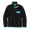 Patagonia Womens Lightweight Synchilla Snap-T Fleece Pullover Black w/ Ultramarine