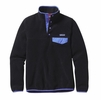Patagonia Womens Lightweight Synchilla Snap-T Fleece Pullover Black w/ Violet Blue