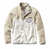 Patagonia Womens Lightweight Synchilla Snap-T Fleece Pullover Bleached Stone