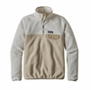 Patagonia Womens Lightweight Synchilla Snap-T Fleece Pullover Bleached Stone w/ El Cap Khaki