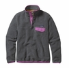Patagonia Womens Lightweight Synchilla Snap-T Fleece Pullover Nickel w/ Mock Purple