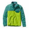 Patagonia Womens Lightweight Synchilla Snap-T Fleece Pullover Peppergrass Green