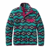 Patagonia Womens Lightweight Synchilla Snap-T Fleece Pullover Wild Desert: Beryl Green Small