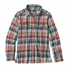 Patagonia Womens Long-Sleeved Fjord Flannel Shirt Bay Laurel: Toasted White