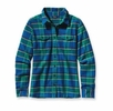 Patagonia Womens Long-Sleeved Fjord Flannel Shirt Blythe: Andes Blue