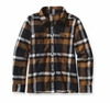 Patagonia Womens Long-Sleeved Fjord Flannel Shirt Chrystaline: Black