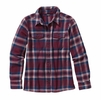 Patagonia Womens Long-Sleeved Fjord Flannel Shirt Handicraft: Oxblood Red