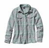 Patagonia Womens Long-Sleeved Fjord Flannel Shirt Handicraft: Tailored Grey