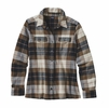 Patagonia Womens Long-Sleeved Fjord Flannel Shirt Tree Crown: Carbon
