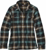 Patagonia Womens Long-Sleeved Fjord Flannel Shirt Windrow: Black