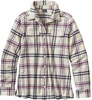 Patagonia Womens Long-Sleeved Fjord Flannel Shirt Windrow: Violet Red
