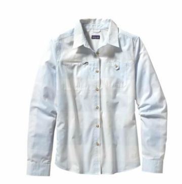 Patagonia Womens Long-Sleeved Island Hopper Shirt Largo: Ion Blue (Spring 2014)